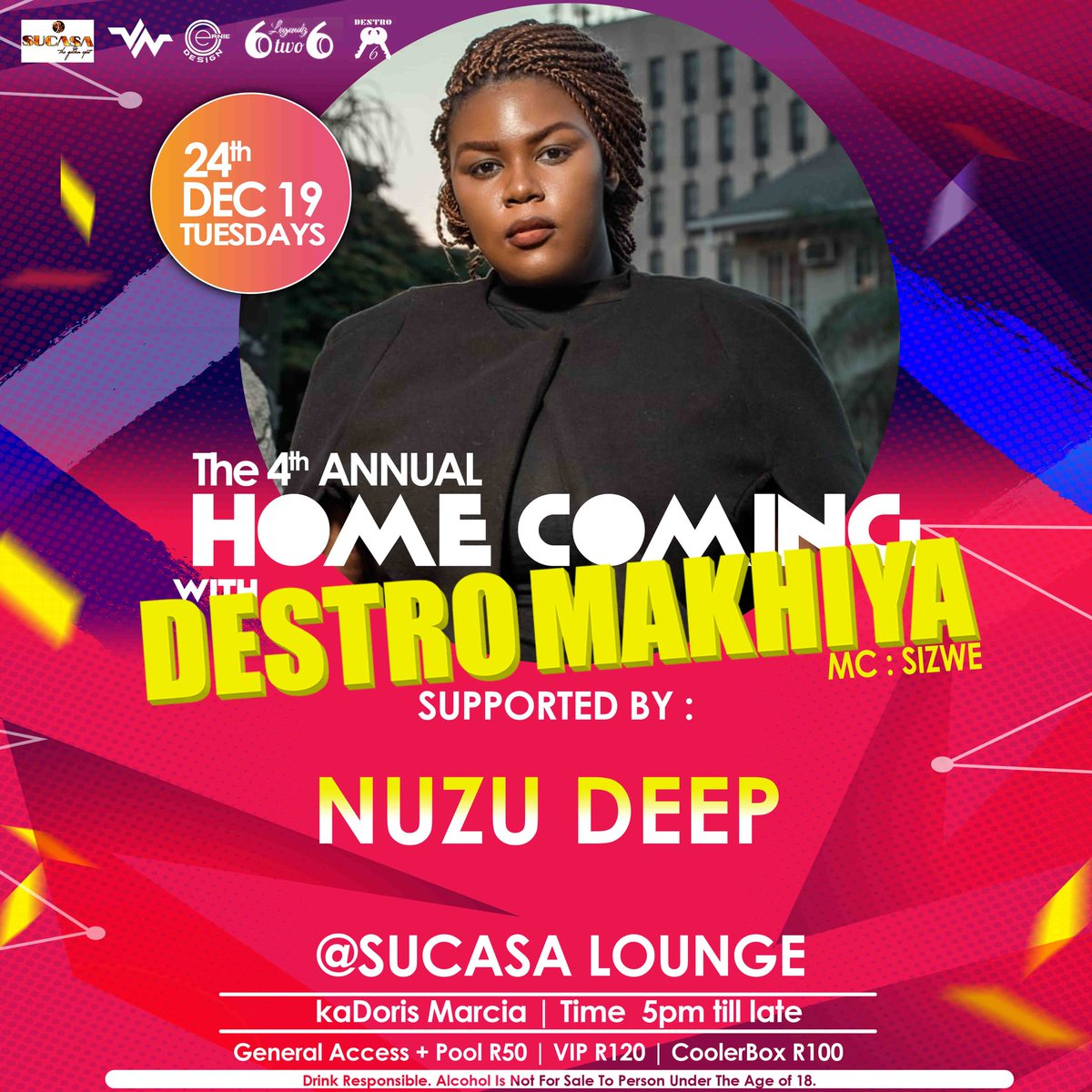 4TH ANNUAL #HCWDM19 FIRST FOUR supporting Acts! 🔥💯 24 Dec 19 @SUCASAtheGoldenSpot❤ #6ikisi https://t.co/DKY4H1guba