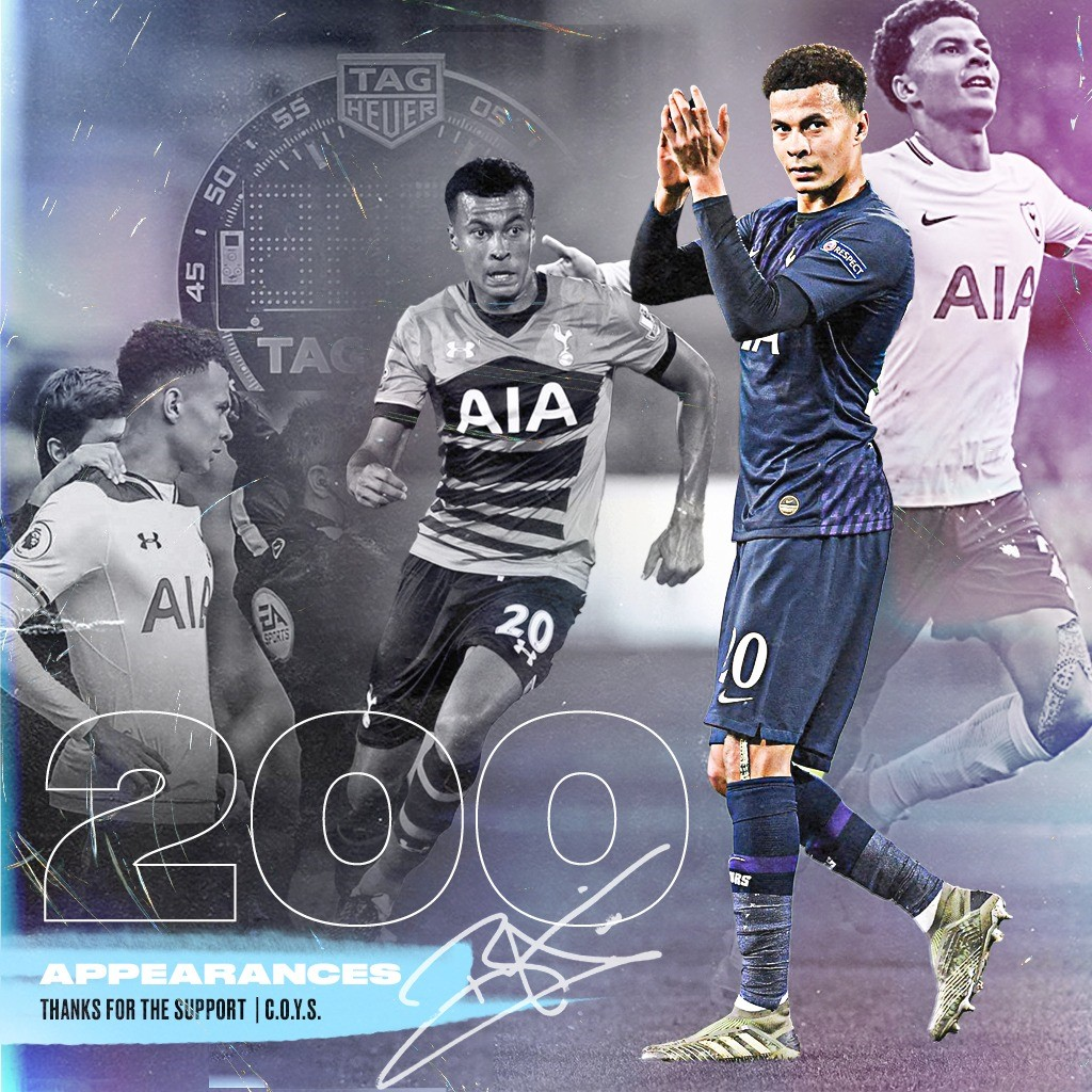 Delighted to have made my 200th appearance for Spurs. Feels like yesterday I made my debut. It's been an unbelievable journey so far, full of ups and downs but wouldn't have wanted it any other way. Thank you all for your continued support 👏🏽 #COYS