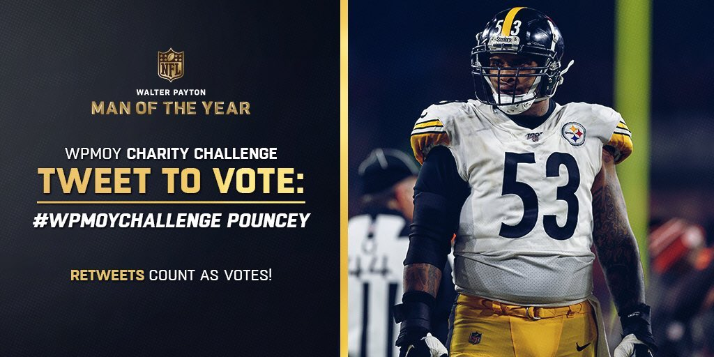 What Maurkice Pouncey brings to the Pittsburgh & Lakeland communities is something I hope everyone, including my kids, sees as an example of the right way to give back - with humility & passion.   Steelers Nation do the right thing & RT to help him win.   #WPMOYChallenge Pouncey