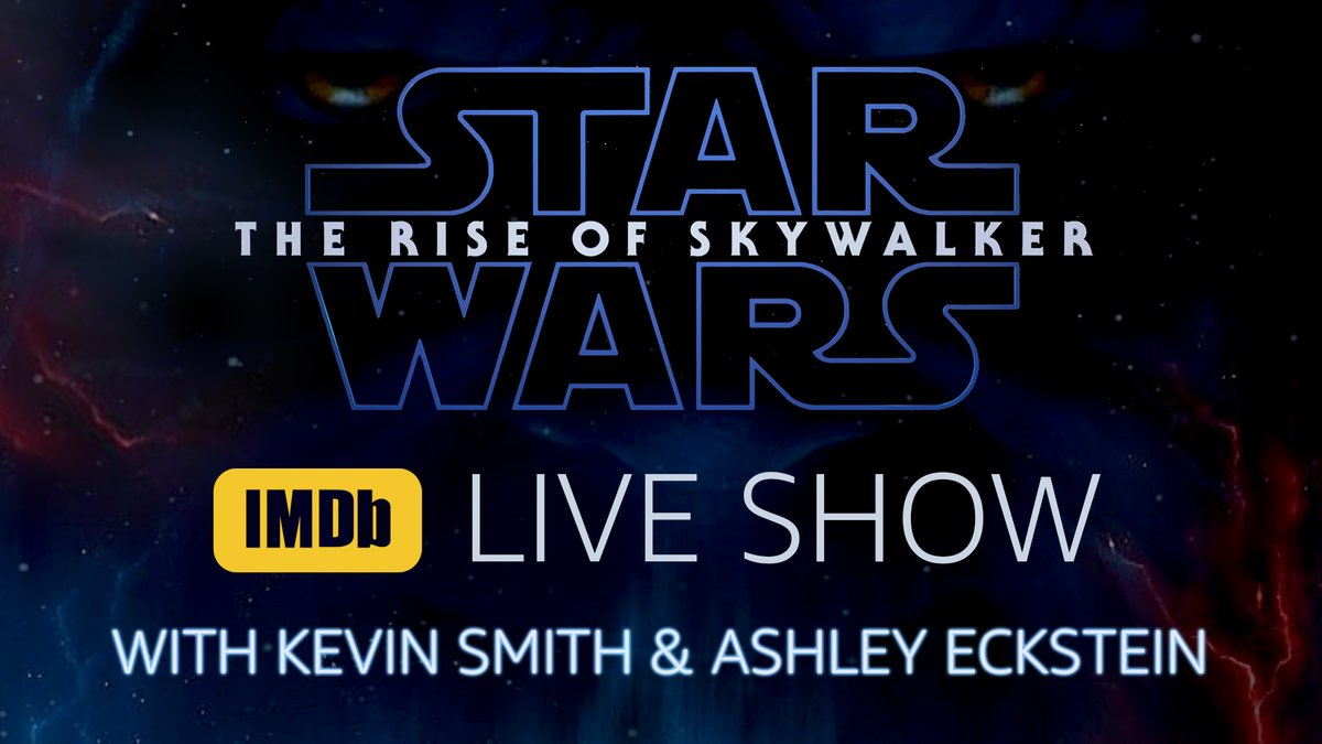 Imdb On Twitter Starwars Superfans Thatkevinsmith Ashleyeckstein And Iandeborja Are In The Studio For The Imdb Starwars Live Show They Ll Debate Their Passion Of Star Wars And Battle To Prove Who Is