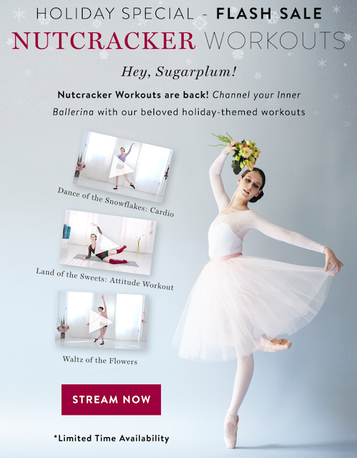 Our #Nutcracker Workouts are HERE! #Dance through the holidays with these beloved #workouts  Only available for a limited time! Find them here: https://www.balletbeautiful.com/nutcracker-bundle-2019… #BalletBeautiful #BalletBeautifulFit #ballet #ballerina #barre #fitness #feelgood #wellness #cardio #tonepic.twitter.com/WdJP2YjUnN