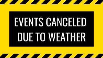 All evening events and practices are cancelled today, Tuesday, December 17, 2019!