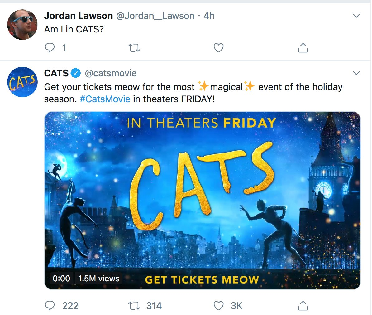 @Jordan__Lawson You are in Cats. According to my Twitter feed.