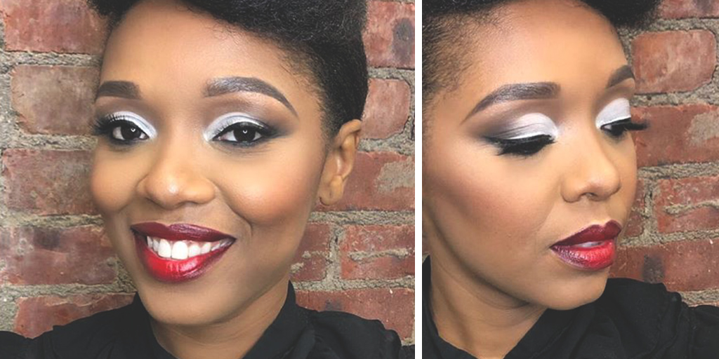 With the right lipstick, you can do anything. 💋 Makeup by #PMTS Alum @ styledby_kat_ on Learning Leader @ iamshirelle (IG) #beautygram #holidaybeauty #holidayeyeshadow #holidaylipstick #holidaymakeup #makeup #PMTSalumni #makeuplove
