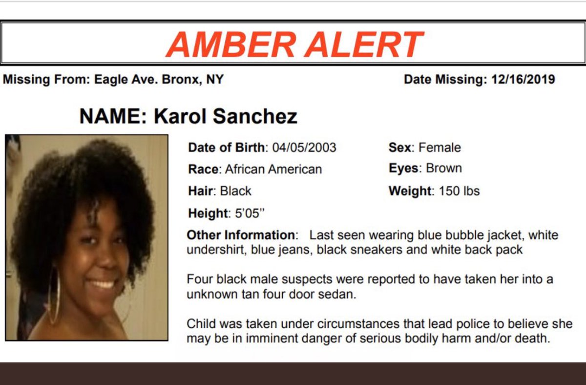 Nypd 40th Precinct On Twitter We Have A Victory Today Karol Has Been Found Thank You To All Who Have Worked Very Hard To Track Down The People Involved In