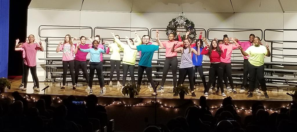 The CFCMS Show Choir Club performed tonight for the first time. They were outstanding!