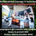 Image for the Tweet beginning: #NoISDS4Xmas calendar 17 Dec: Creative