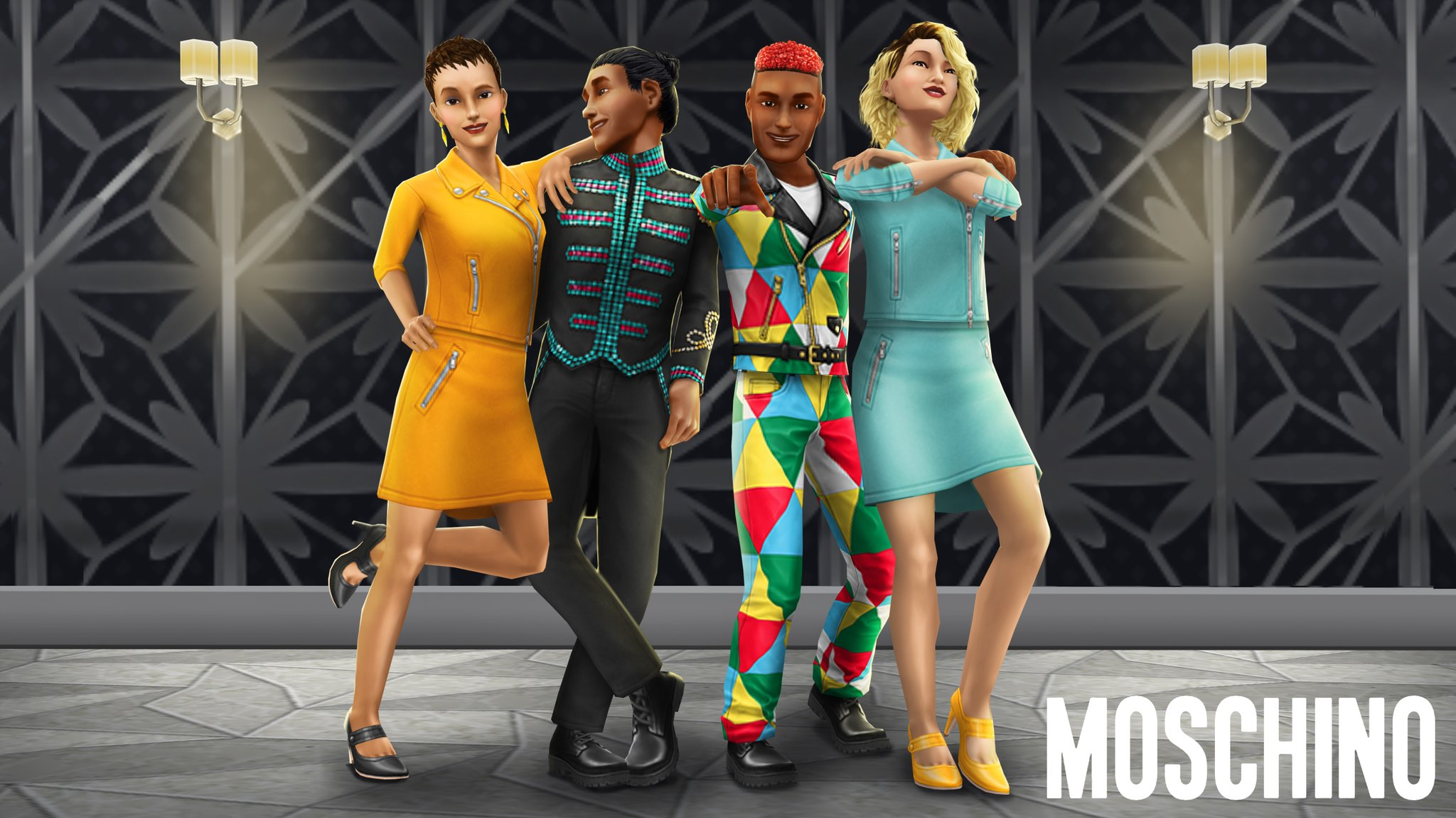 The Sims Freeplay On Twitter Get Your Hands On More Individual Bold Designer Fashion Items From Moschino Available Now