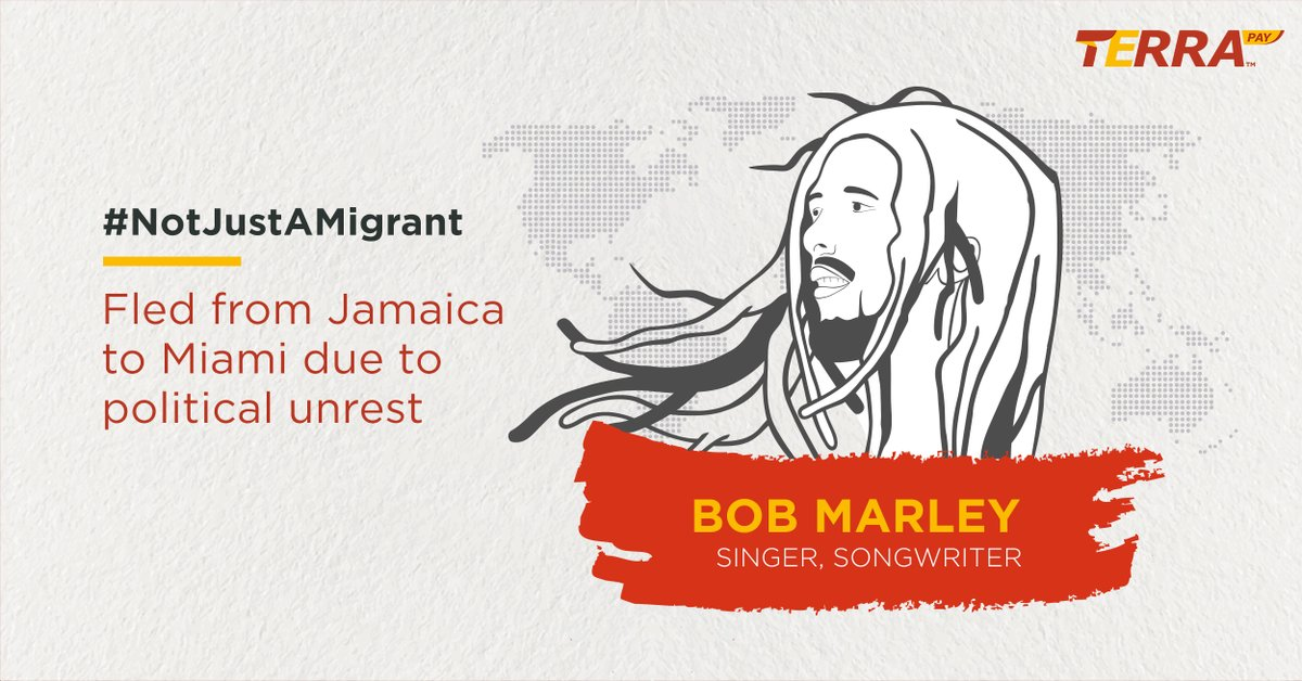 #NotJustAMigrant, Bob was the undisputed king of reggae and a true legend whose music keeps on inspiring the lives of millions decades after his death.  #MigrantsDay #migrantmemories #migrantsareheroes #InternationalMigrantsDay #Dec18 #WithDignity #MigrantsDay2019 #TerraPaypic.twitter.com/cVqDZgUH8o