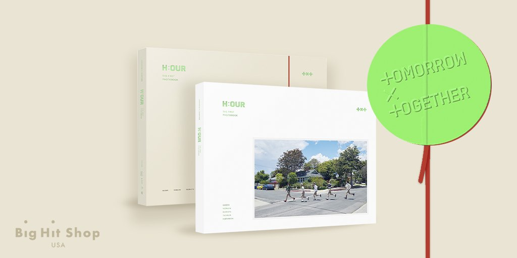 Its the first-ever photobook since their debut! TOMORROW X TOGETHER THE FIRST PHOTOBOOK H:OUR is here.🥰 Get the newest photobook and recall the precious moments of TOMORROW X TOGETHER. Order on #BigHitShopUSA for cheaper & faster shipping! 👉 bit.ly/2Z0Kqbm #TXT_HOUR