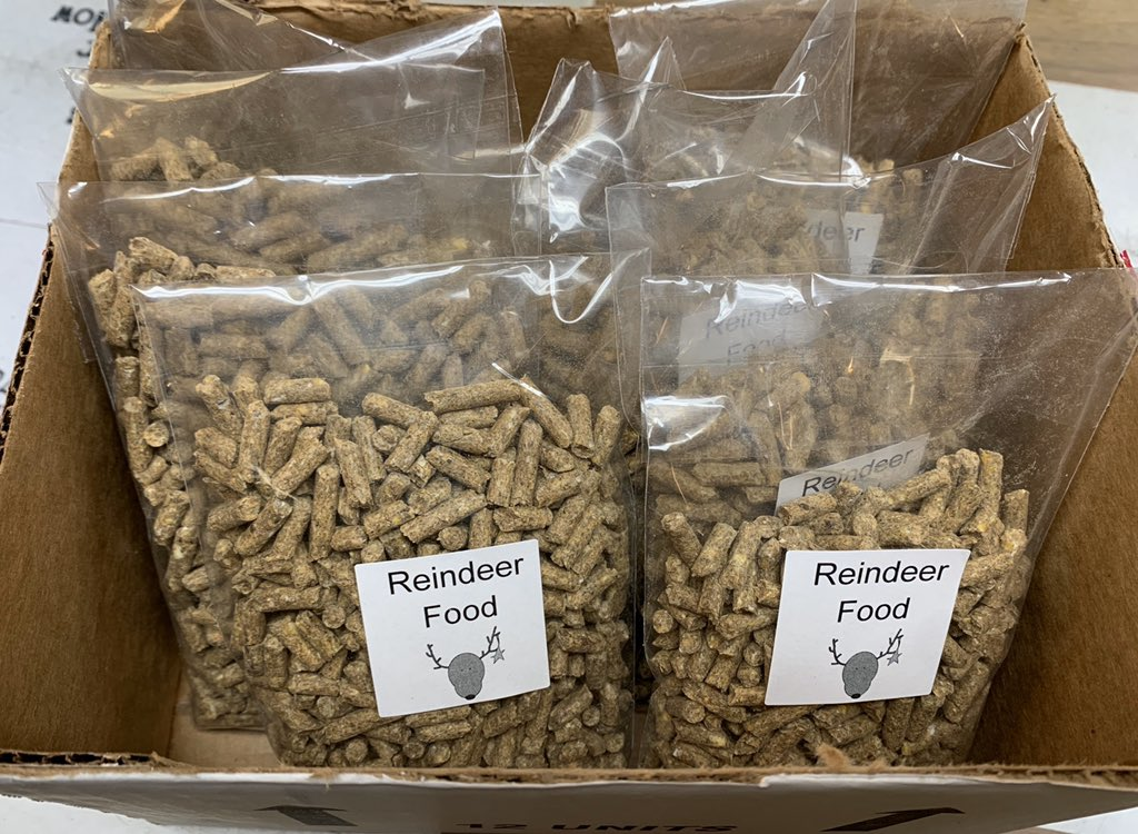 Bring your little ones by to get their Free bag of Reindeer Food for Christmas Eve!!!