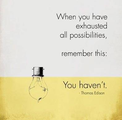 Thomas Edison.- #quote #image Addicted2Success.com goo.gl/QlKuuL