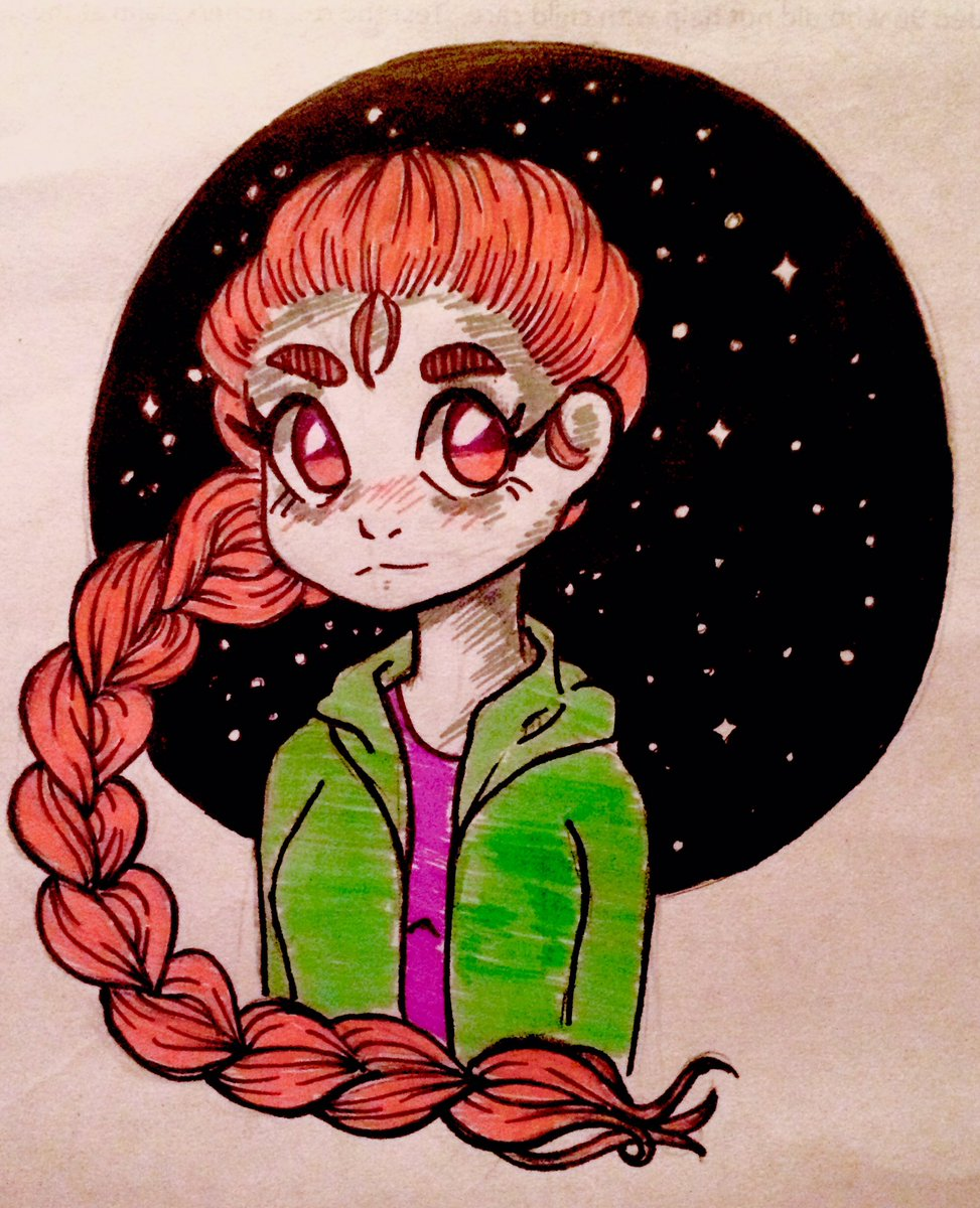 #myart #myartwork #doodle #ink #anime #AnimeArt #girl #pink https://t.co/HRKrJPe372