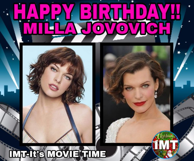 Happy Birthday to the Beautiful Milla Jovovich! The actress is celebrating 44 years