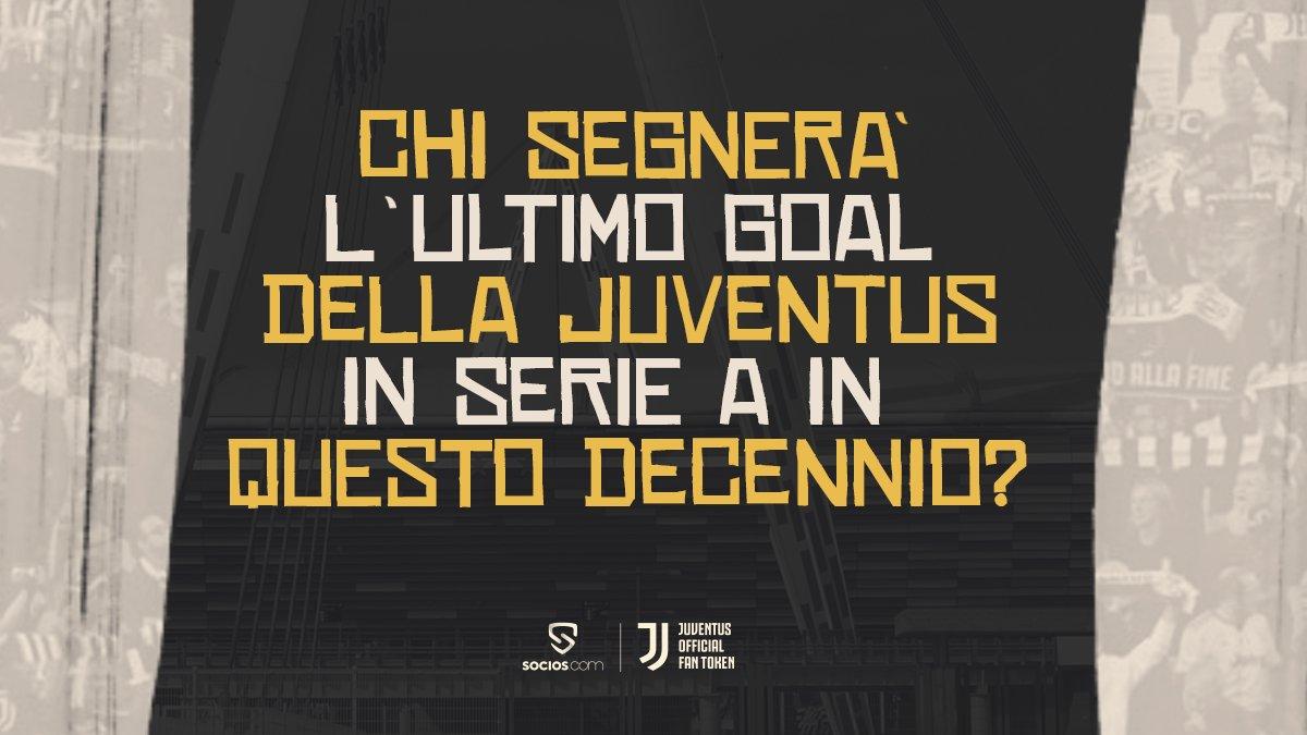 ⚽Indovina quale sarà l'ultimo giocatore della @juventusfc a segnare un goal in @SerieA in questo decennio e vinci una maglia Socios x Juventus in edizione limitata.  Per partecipare: ✅Seguici ✅Rispondi ✅RT  Termina alle 18:54  #sociosishere https://t.co/AE94kzANnJ
