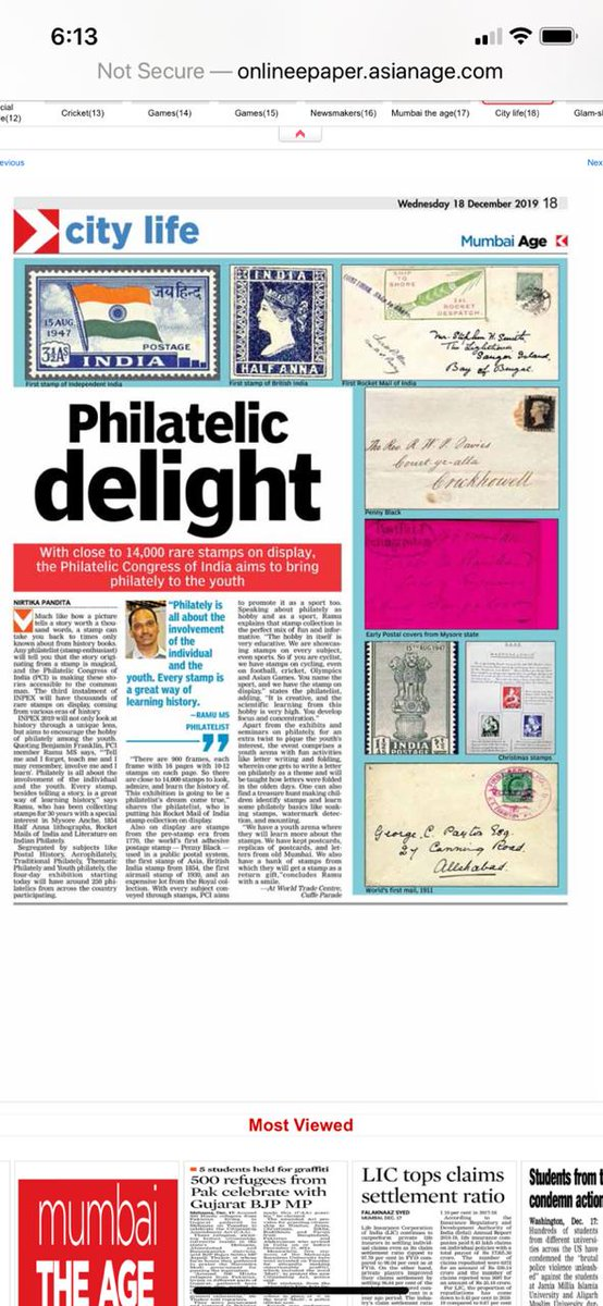 With 14000 rare stamps to display, Inpex 2019 hosted at world trade center, Cuff parade, Mumbai is a must attend for all interested in philately#philately #Stamp #Inpex2019 http://www.inpex2019.com