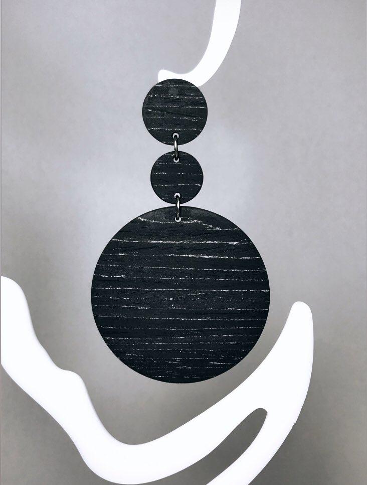 #cmylasercrafts #earrings #accessories #handmadejewelry #handmadejewelryforsale #giftideas #woodearrings #moda #earringsdesign  #handmadeearrings #earringshandmade #σκουλαρίκια #lasercutearrings #statementearrings #wood #black #silver #mydesign #Conversationpiece #etsyshop #etsy