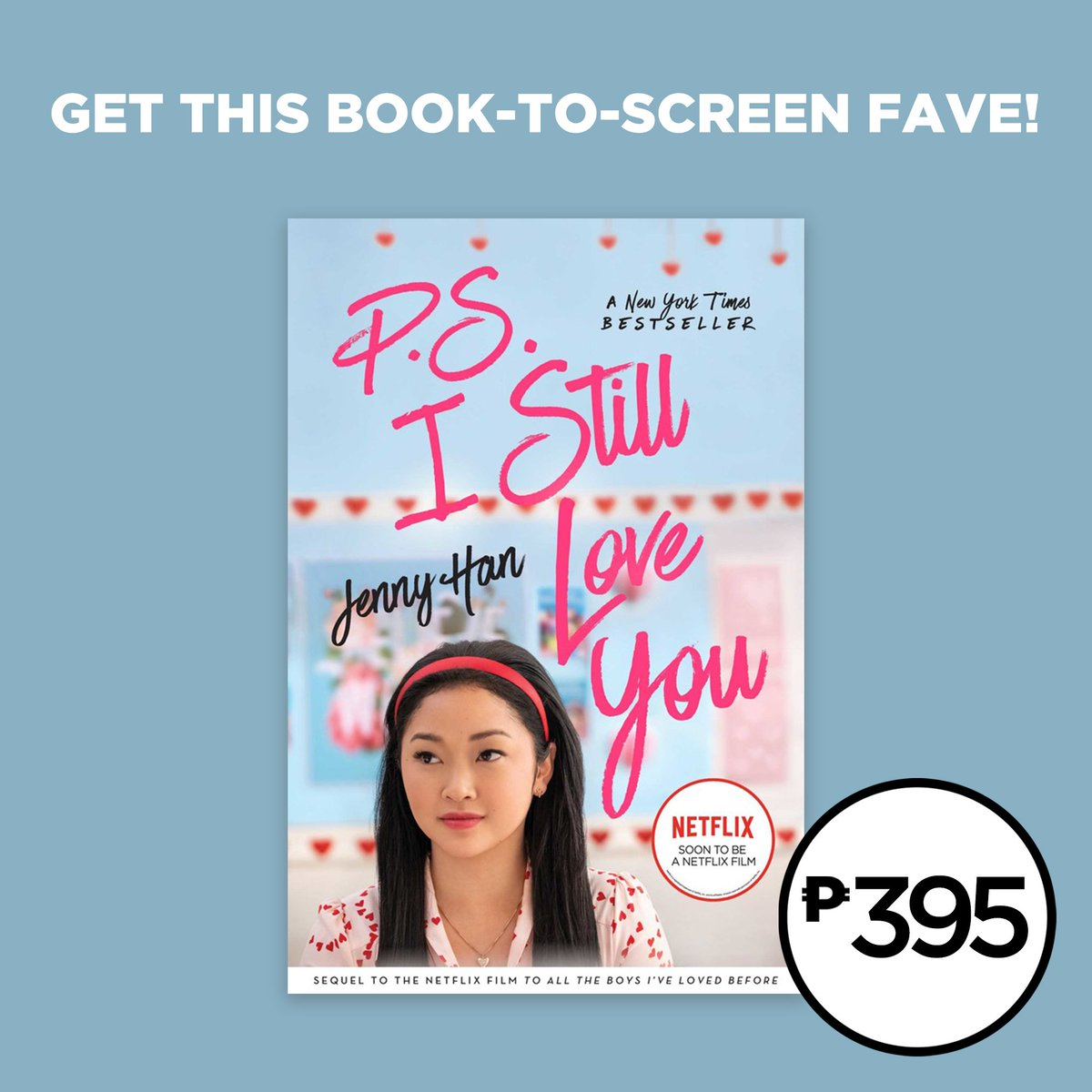 Only P395 for the movie tie-in edition of P.S. I Still Love You by Jenny Han. Shop for it in selected branches or online: .  Read up on the next chapter in the love story between Lara Jean and Peter. #NBSNewReads #NBSgifts #NBSeveryday