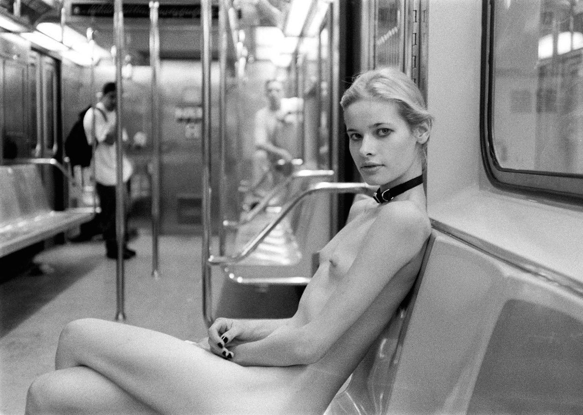 Erica's The Only One Naked On A New York Subway