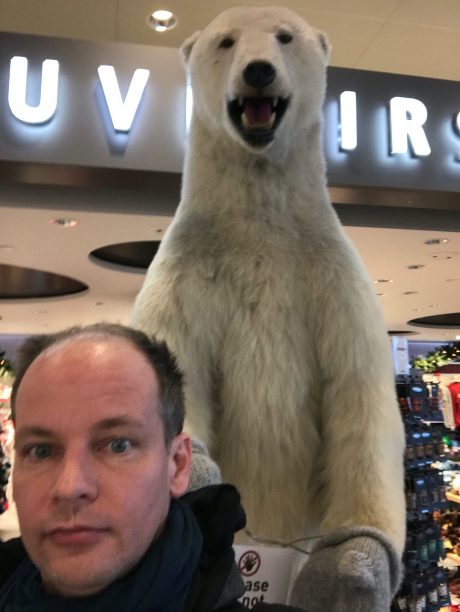 """Thanks to Philipp Mitteröcker for his visit! Yesterday we enjoyed his talk on """"Geometries of #Evolvability"""" at @CASOslo. Disclaimer: we verified that he didn't get attacked by the polar bear."""