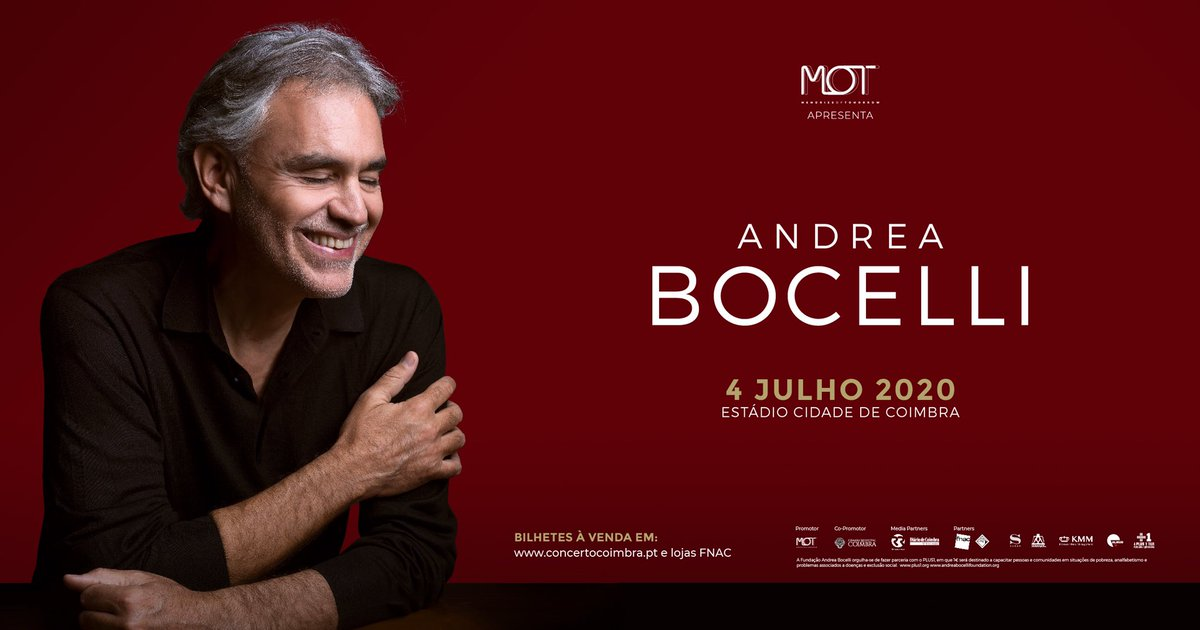 ANDREA BOCELLI RETURNS TO #PORTUGAL On July 4, 2020, the Cidade de #Coimbra Stadium will be the stage of an once-in-a-lifetime experience. Tickets can be purchased at: bit.ly/AndreaBocelli_…