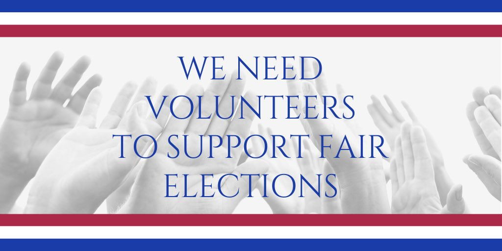 THREAD 1/ The 2020 Election will see an astounding record voter turnout. Polling places are staffed by VOLUNTEERS - and there are never enough - even when voter turnout is low. Not enough VOLUNTEERS & MILLIONS may not be able to vote! #OneVoice1 #wtp2020 #PollVolunteer