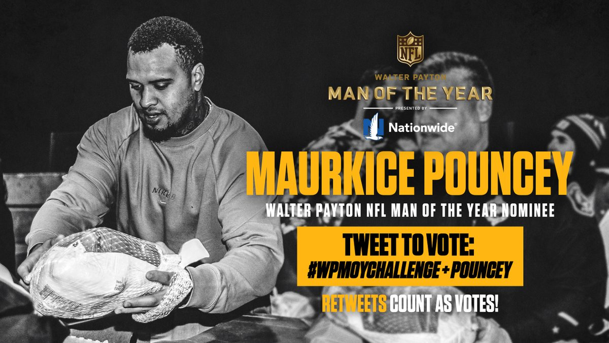 RT this post to help @MaurkicePouncey earn a $25,000 contribution to the charity of his choice! #WPMOY   #WPMOYChallenge Pouncey #WPMOYChallenge Pouncey #WPMOYChallenge Pouncey #WPMOYChallenge Pouncey #WPMOYChallenge Pouncey