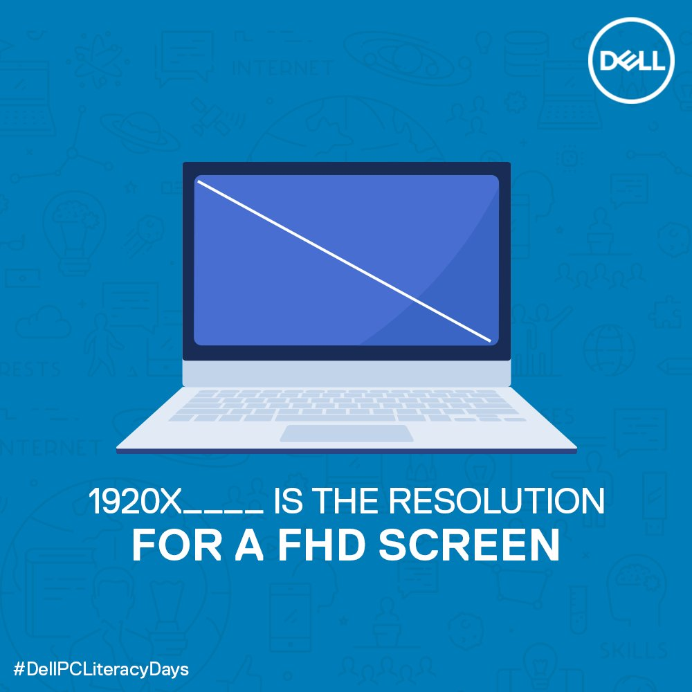 (2/5) Answer all the questions and win big with #DellPCLiteracyDays!  #DellIndia #ContestAlert