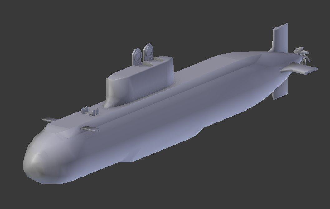 "SanetomoWorks on Twitter: ""中国の032清型潜水艦を建造中。 艦首に ..."