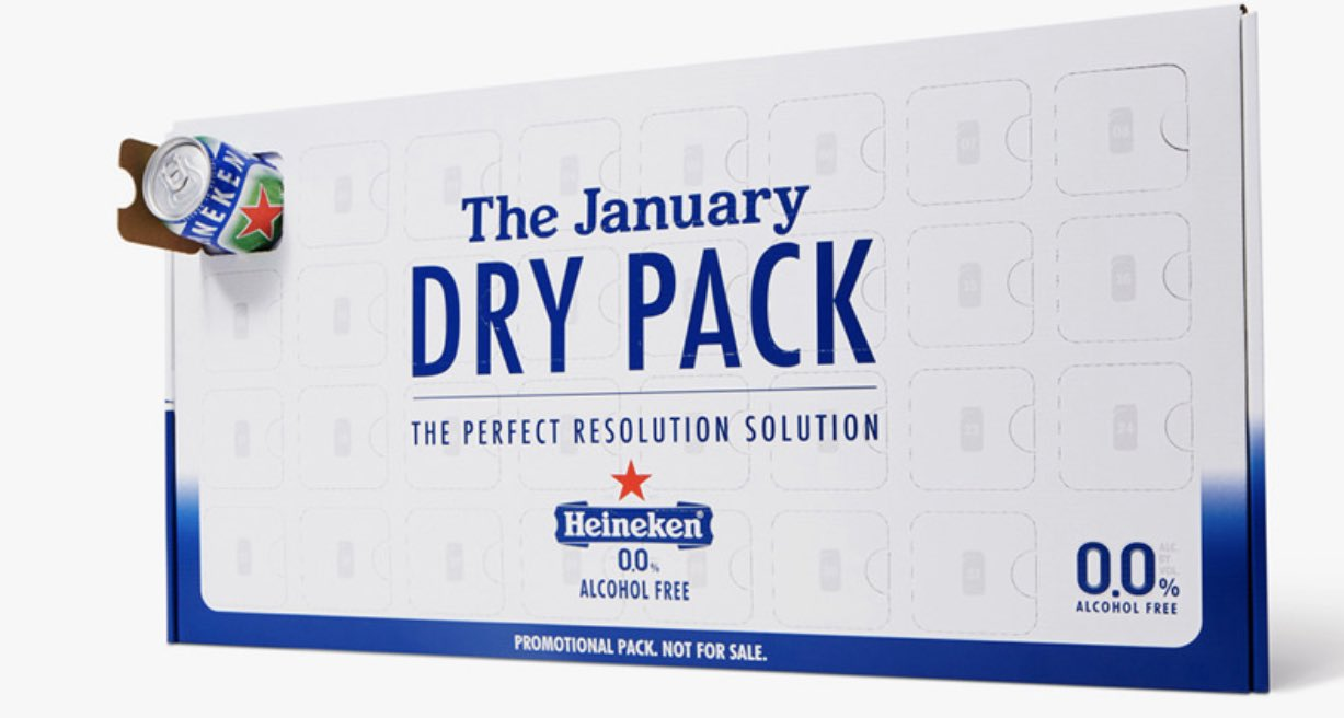 Darren Rovell On Twitter Heineken Launches 31 Pack Of Its Non Alcoholic Beer Called 0 0 So That A Can Can Be Consumed For Each Day Of Dry January Https T Co Cl9yzwyk6l
