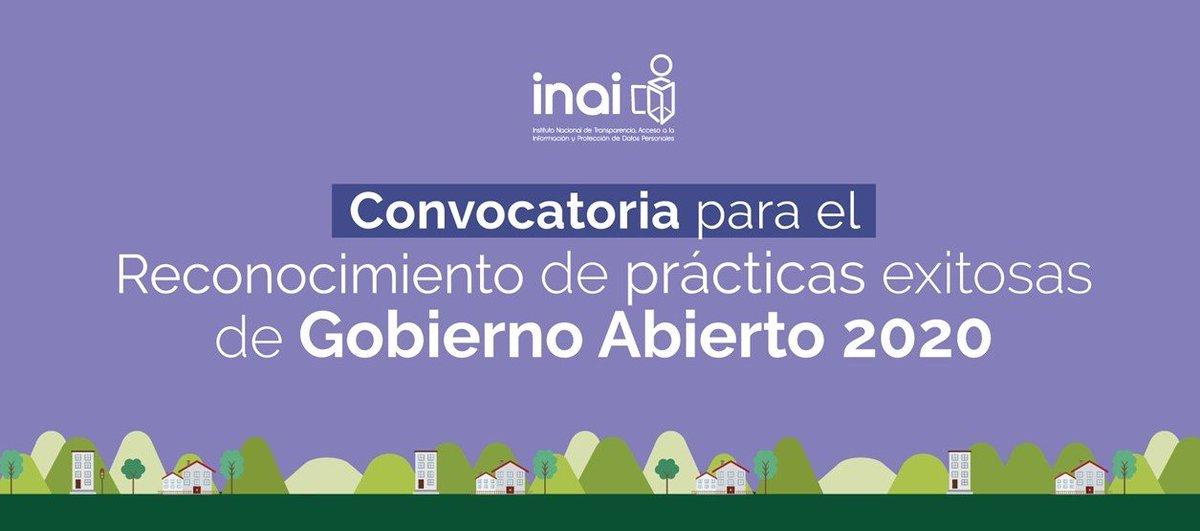 #INAIinforma Lanza INAI convocatoria para el Reconocimiento de Prácticas Exitosas de #GobiernoAbiertoComunicado http://bit.ly/2Z2kkVN