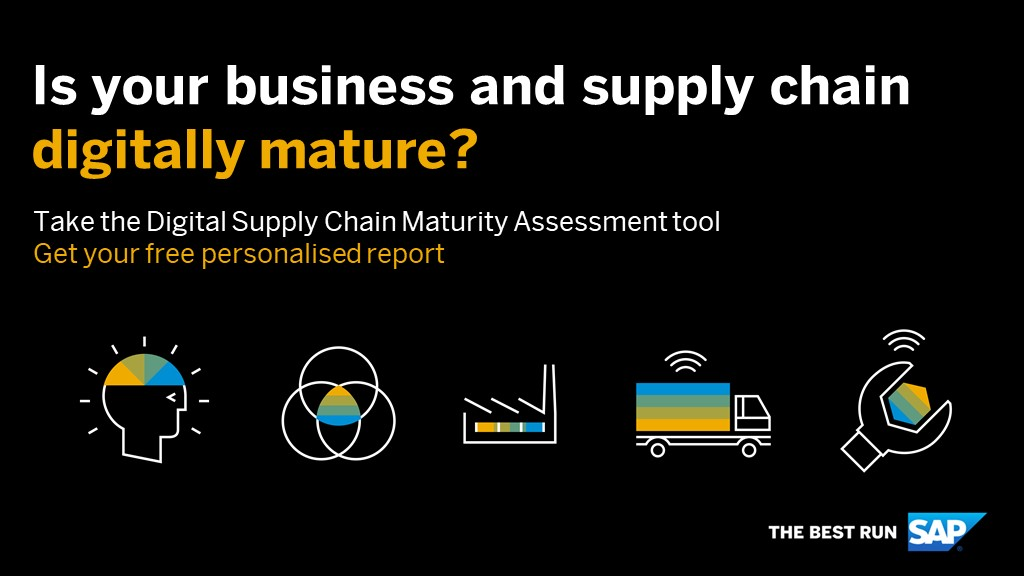 How innovative is your #supplychain? Find out how intelligent your supply chain is by taking the SAP Digital Supply Chain Maturity Assesment Tool: http://sap.to/60121noMq