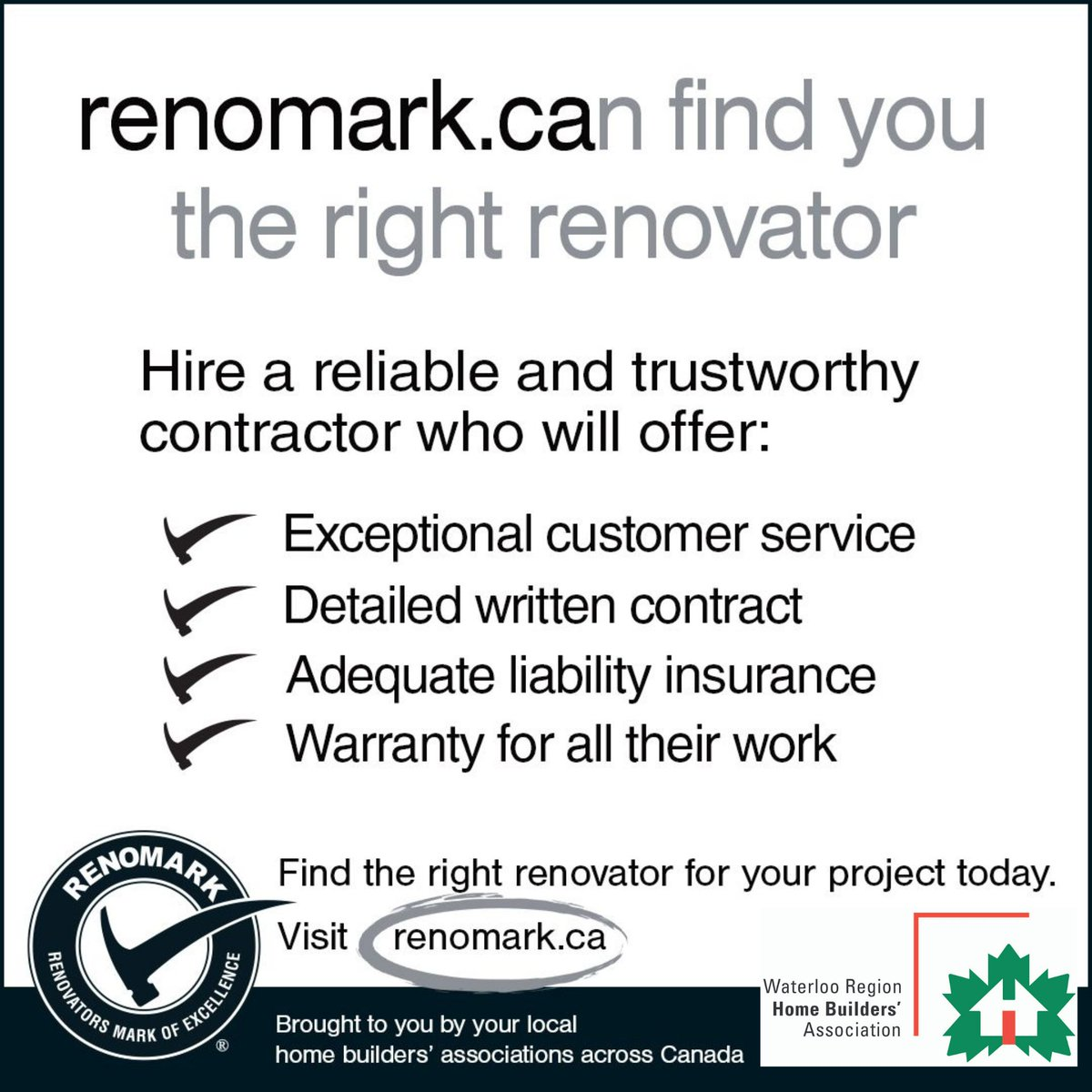 @RenoMark_ca and WRHBA helps you find the right professional #contractor for your home reno.  #kwawesome #waterlooregion #waterloo #kitchener #ontario #wrhba #homebuilders #homebeliever #homebuildersassociation #renovator #renovation #waterloobuilderpic.twitter.com/sdOg0weApw