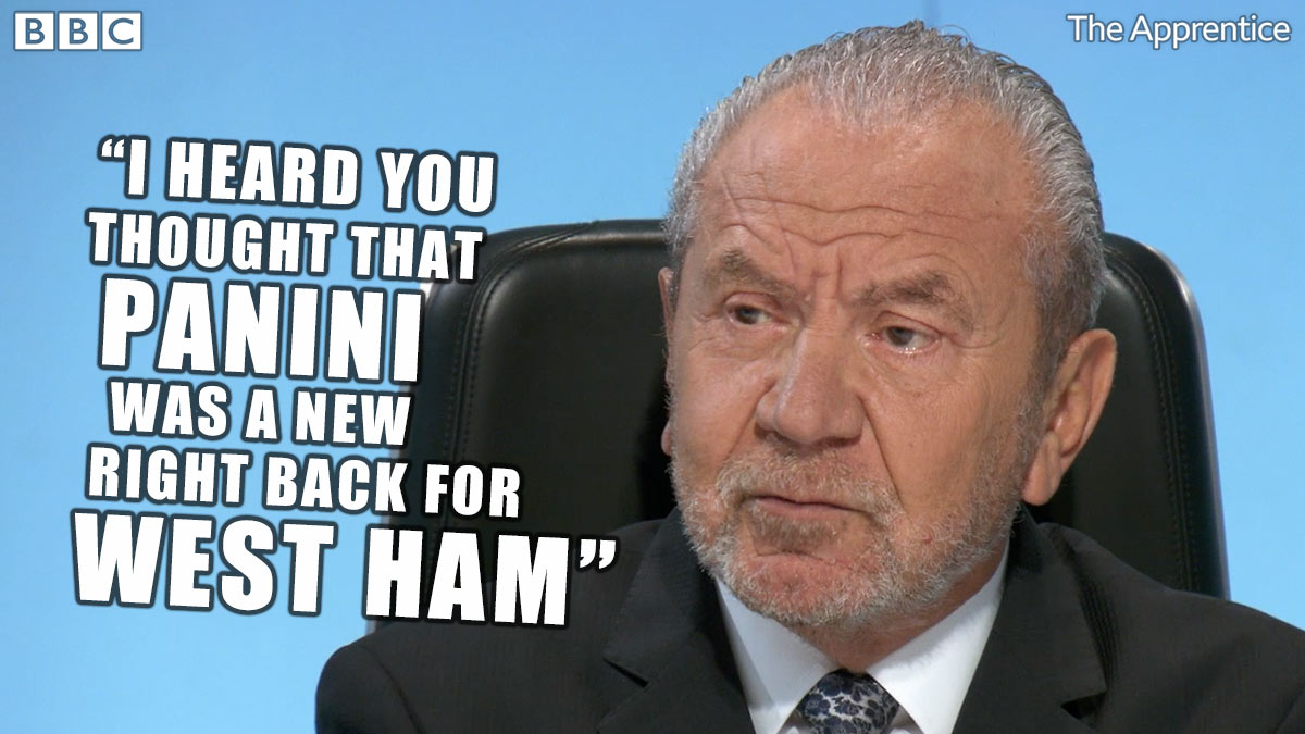 To be fair, we thought Panini made sticker books 🤔 #TheApprentice