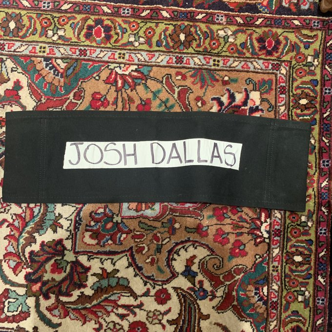 Happy Birthday Josh Dallas! I haven t met him yet but I got his chair label so if he wants it, come to KUWAIT