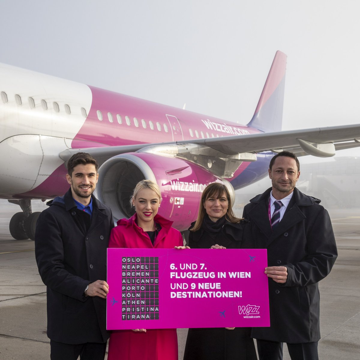 Wizz Air On Twitter We Re Celebrating The Arrival Of The 7th Aircraft To Our Vienna Fleet Bringing Fantastic New Travel Opportunities To The Central European Region With The Recently Joined Airbus A321