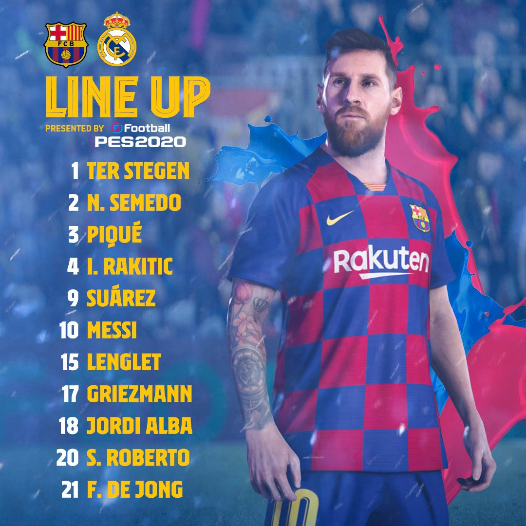 ⚠️ There has been a change to the starting 11 for #ElClásico.