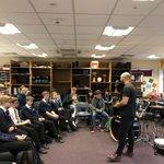 Image for the Tweet beginning: Fantastic Drumming Masterclass session @AHSYork