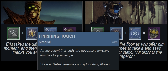 That's a nice, concise reference graphic. Thanks! For those who might still not know *how* to get the different ingredients, check https://www.todayindestiny.com/the_dawning (they have a handy mouse-over tip showing the sources). #Destiny2 #Dawning2019 https://twitter.com/OatsFX/status/1207118827256868864…pic.twitter.com/IPsdF9YBrZ