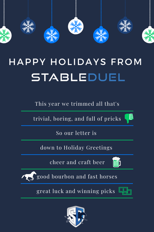 Happy Holidays from StableDuel! ☃️ ❄️ 🎁
