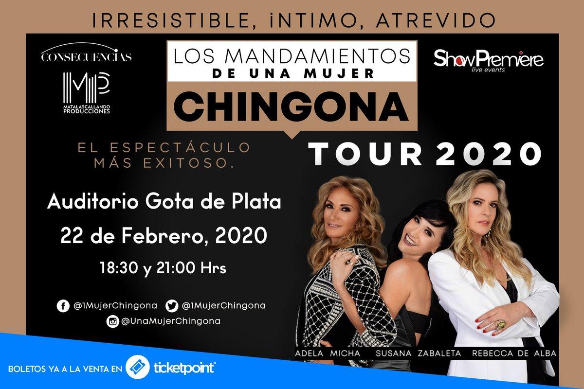 Los Mandamientos de Una Mujer Chingona 👩🏼👩🏻👩🏼 ¡Irresistible,Intimo,Atrevido!  📅 Sábado 22 de Febrero 2020 a las ⏰ 18:30 y 21:00 hrs  🎭 #Auditorio @GotaDePlata_  en #Pachuca 🎟 Boletos disponibles en Puntos de venta TicketPoint y en línea ⬇️ https://t.co/km8unpJKHB https://t.co/wAxgLPU6Ya