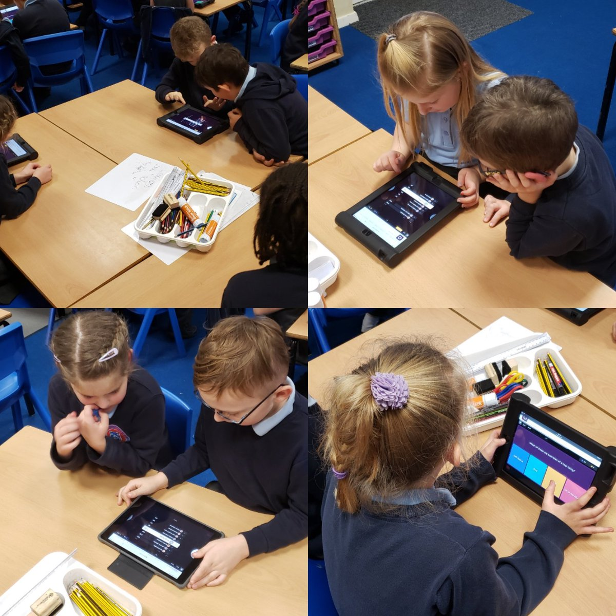 We used #Quizizz to test ourselves on a Ston Age review this afternoon. It was so much fun and we loved the competitive edge with the leaderboard on the board.   #WeLoveQuizizz #InteractiveQuiz   @BostonStNic @fionaboothHT @gavinbHT @InfinityAcadpic.twitter.com/1qxU0QP5Jo
