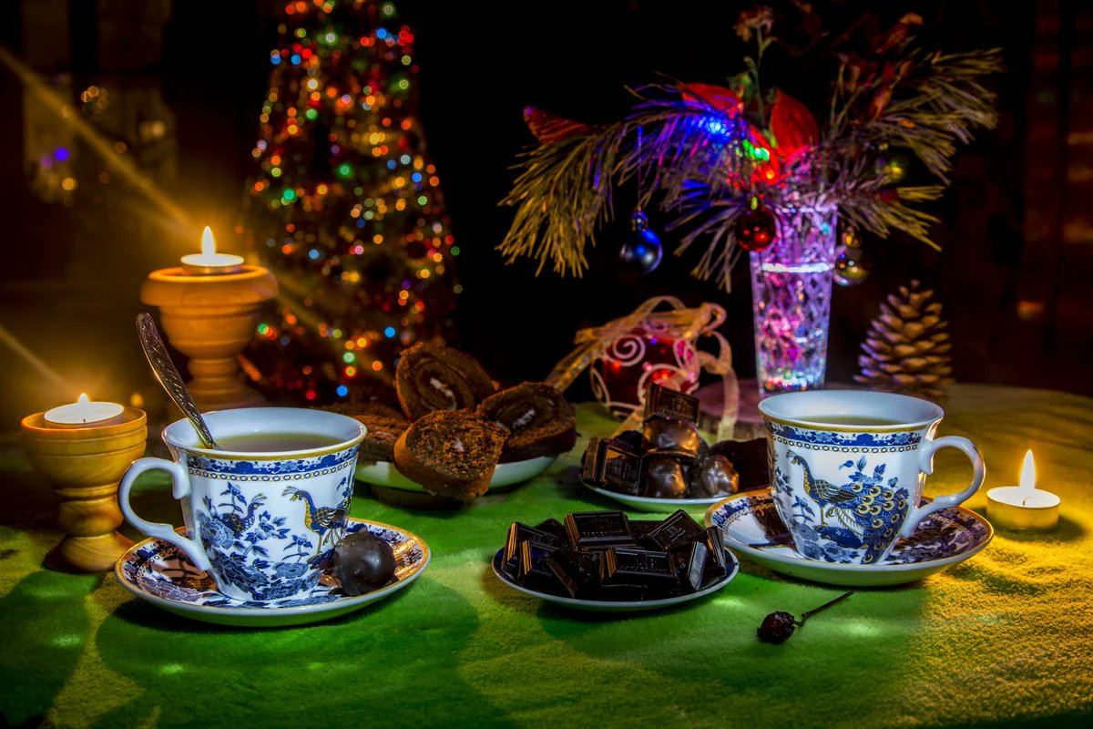 горная открытки уютного рождественского вечера характерный для