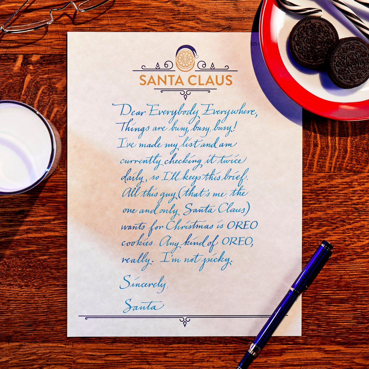 Oreo Cookie On Twitter Reminder Santa Claus Doesn T Ask For