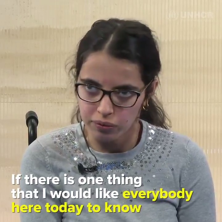 """""""Refugees are a treasure, not a burden.""""   At 16, Nujeen made the 3,500-mile journey from Syria to Germany in a steel wheelchair.   🗣️"""