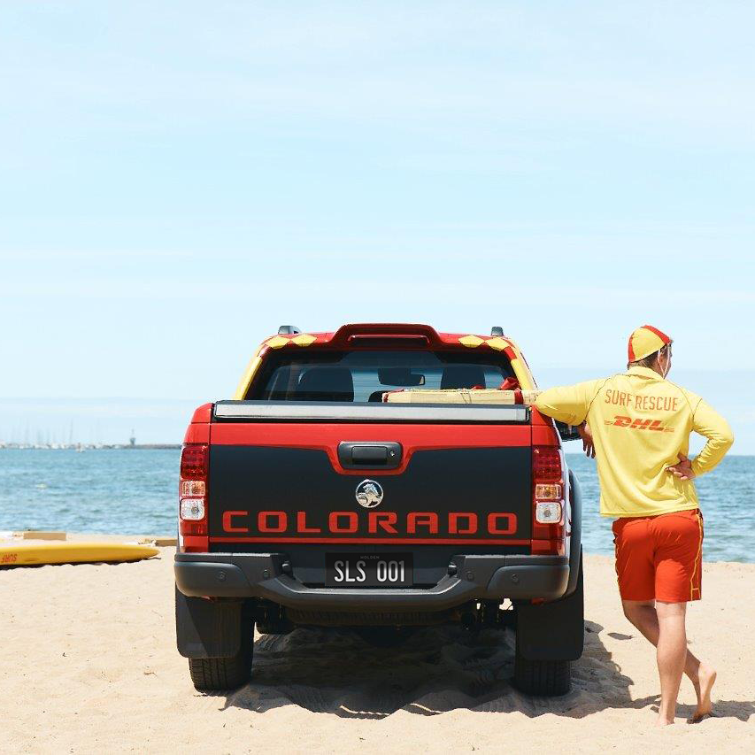 Nothing says summer quite like red and yellow beach flags. And the tireless efforts of @SLSAustralia keeping our beaches safe with a little help from the #HoldenColorado 💪.   At Holden, we're proud to play our small part, looking after the people looking after you.   #Yougotthis https://t.co/OKCHZWFRy0