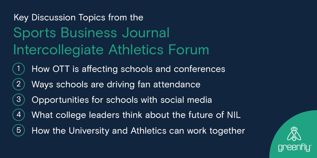 What do athletic directors + other leaders in college #sportsbiz think about the big topics of the day?  Check out quotes + insights in our #SBJIAF conference summary https://t.co/Jdp0AUTNE2 cc @Learfield @D1ticker https://t.co/tOd11ibpdL