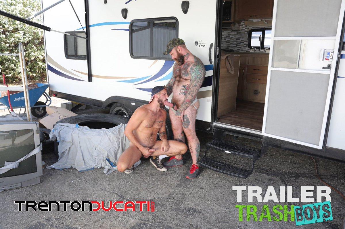 Trailer trash bondage sex