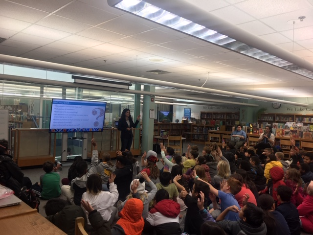 An audience of attentive listeners with questions for author <a target='_blank' href='http://twitter.com/henakhanbooks'>@henakhanbooks</a> today. We love how there are so many voices and perspectives in her books.  Thank you, Hena for a great visit to <a target='_blank' href='http://twitter.com/OakridgeConnect'>@OakridgeConnect</a> <a target='_blank' href='http://twitter.com/OakridgeMosaic'>@OakridgeMosaic</a> <a target='_blank' href='https://t.co/8pXPyqP3mn'>https://t.co/8pXPyqP3mn</a>