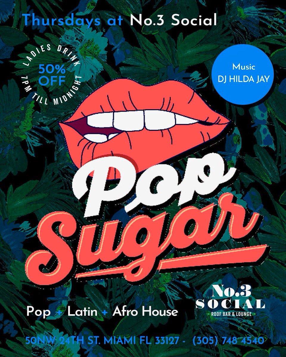 (((THURSDAYS))) Best Ladies Nigh———> @no3social  • • • #openformatdj  #undergroundmiami #techhouse #housemusic #deephouse  #miamilife #femaledj #djhildajay  #miami #wynwood #sobe #dance #goodvibes #drinks  #goodmusic  #djlife #thingstodomiami  #happyhour #womandj  #musicpic.twitter.com/MlRMNOfPRn